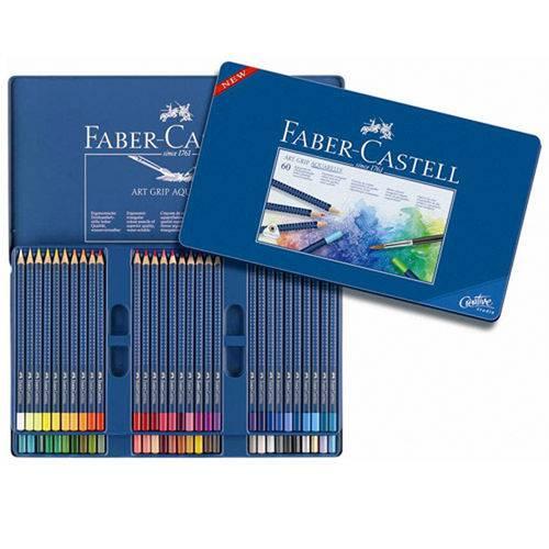 Lápis Aquarela Art Grip Estojo com 60 Cores Ref.114260 Faber-castell