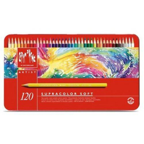 Lápis Aquarela Caran D'ache Supracolor 120 Cores