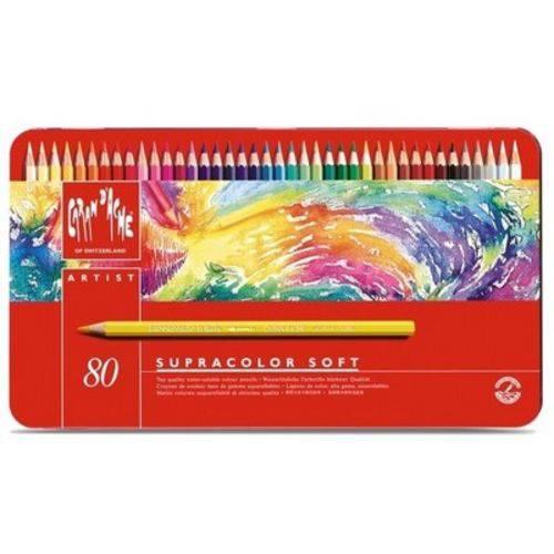 Lápis Aquarela Caran D'ache Supracolor 80 Cores
