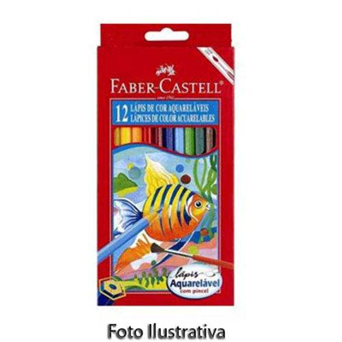 Lápis Aquarela Sextavado Estojo com 12 Cores Ref.120212 Faber-castell