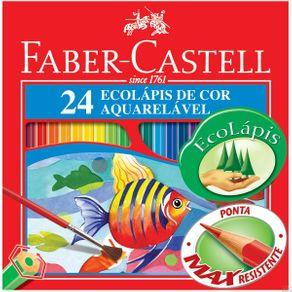 Lápis Aquarela Sextavado Estojo com 24 Cores Ref.120224 Faber-Castell