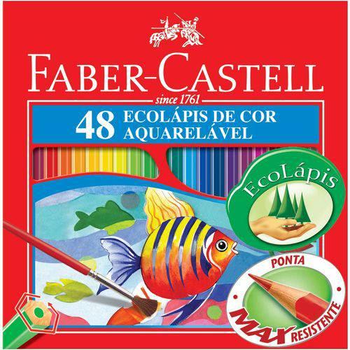 Lápis Aquarela Sextavado Estojo com 48 Cores Ref.120248 Faber-castell