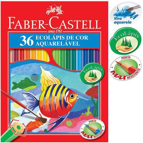 Lápis Aquarela Sextavado Estojo com 36 Cores Ref.120236 Faber-castell