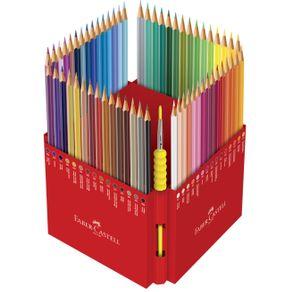 Lápis Aquarela Sextavado Estojo com 60 Cores Edição Limitada Ref.120260G Faber-Castell