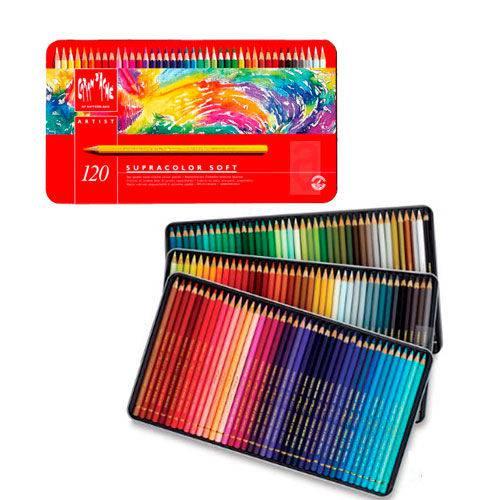 Lápis Aquarela Supracolor 120 Cores Caran D'Ache