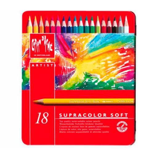Lápis Aquarela Supracolor 18 Cores Caran D'Ache
