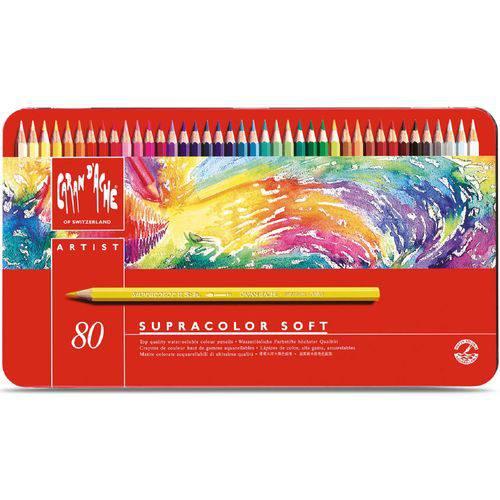Lápis Aquarela Supracolor Soft Estojo C/ 80 Cores Caran D´ache