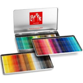 Lápis Aquarela Supracolor Soft Estojo com 120 Cores Caran D'Ache
