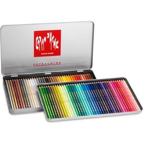 Lápis Aquarela Supracolor Soft Estojo com 80 Cores Caran D'Ache