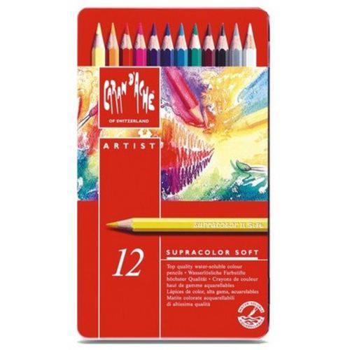 Lápis Aquarelavel Caran D'Ache Supracolor 12 Cores