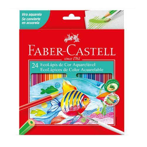 Lapis Cor 24 Cores Aquarela Faber-Castell