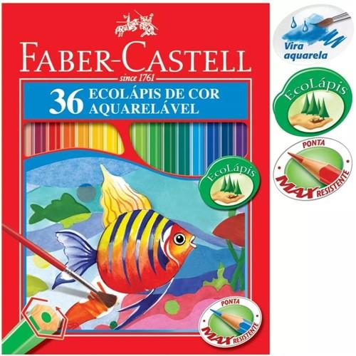 Lápis Cor 36 Cores Aquarela 120236G - Faber Castell