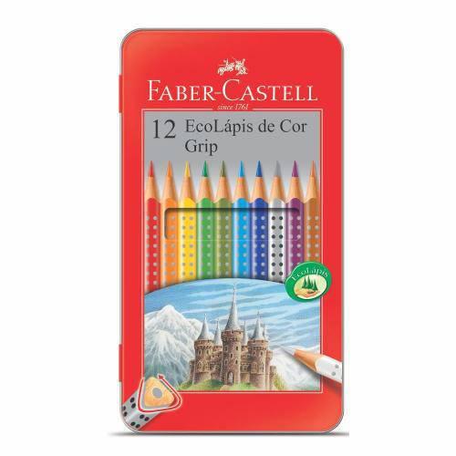 Lápis de Cor 12 Cores Ecolapis Estojo Lata - Faber Castell
