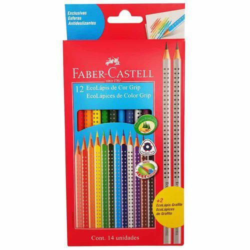 Lápis de Cor 12 Cores Grip Faber Castell