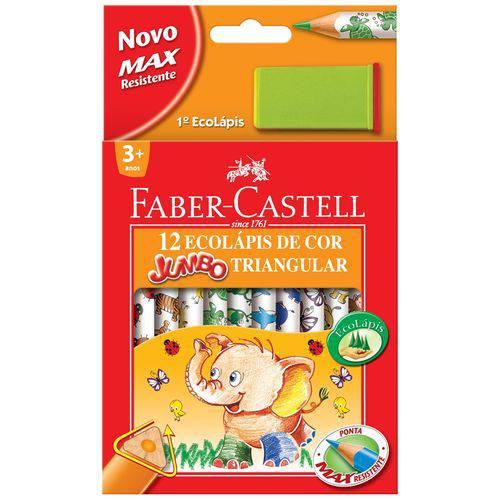 Lápis de Cor 12 Cores Jumbao Ecolapis Unidade - Faber-Castell