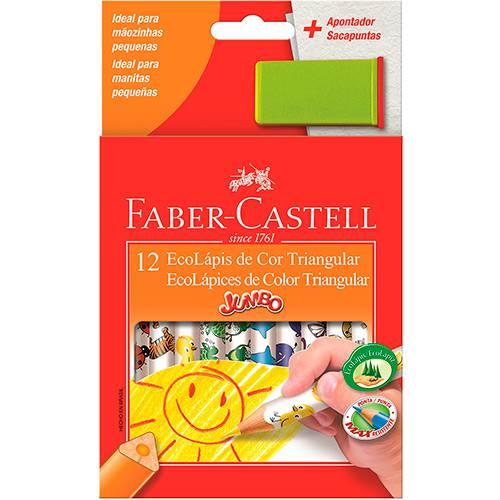 Lápis de Cor 12 Cores Jumbo Triangular Estampa - Faber Castell