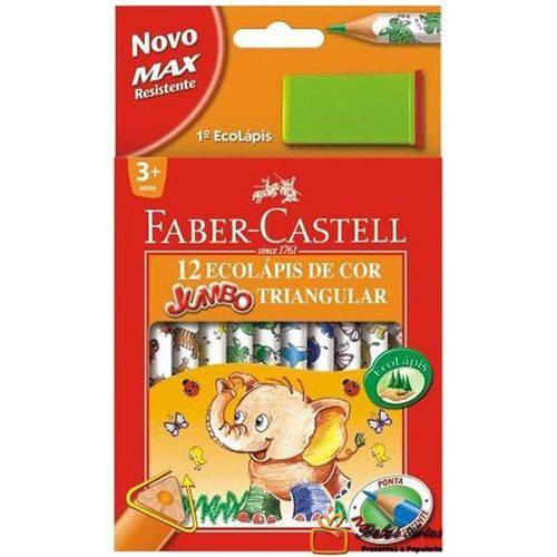 Lápis de Cor 12 Cores Jumbo Triangular Faber-castell