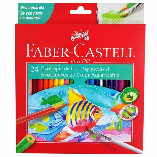 Lápis de Cor 24 Cores Aquarela Faber Castell 131063