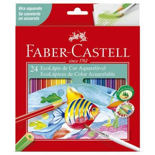 Lápis de Cor 24 Cores - Aquarelável - 120224G - Faber-Castell