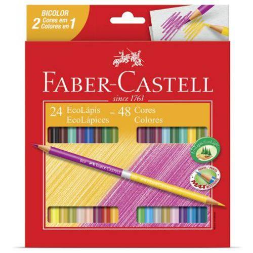 Lápis de Cor 24 Cores - Bicolor - 120624 - Faber-Castell