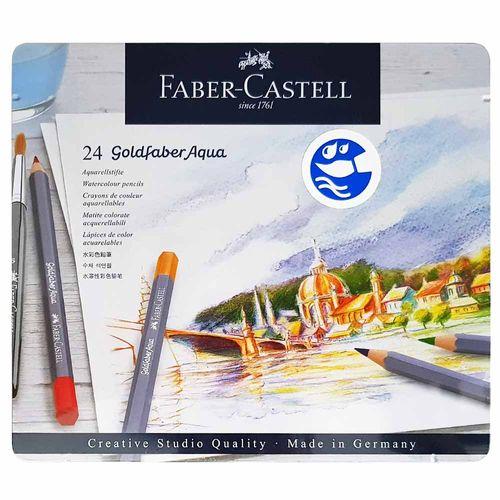 Lápis de Cor 24 Cores Goldfaber Aqua Faber Castell 1027061