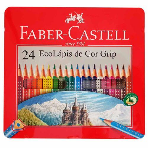 Lápis de Cor 24 Cores Grip Faber Castell 997533