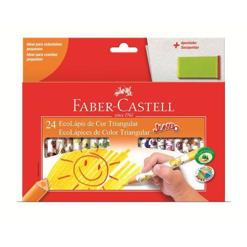 Lápis de Cor 24 Cores Jumbo C/apontador - Faber Castell