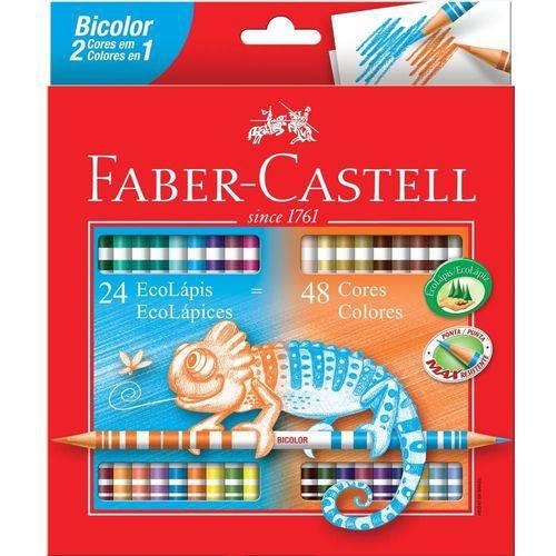 Lápis de Cor 48 Cores Bicolor Faber-castell
