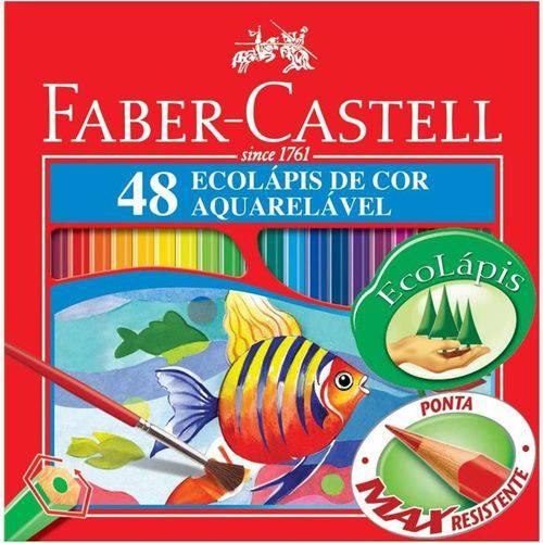 Lápis de Cor 48 Cores Longo Aquarelavel - Faber-castell