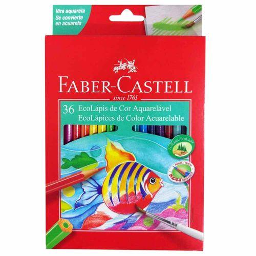 Lápis de Cor 36 Cores Aquarela Faber Castell 130986