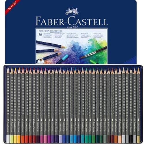 Lápis de Cor 36 Cores Art Grip Aquarelle - Faber Castell