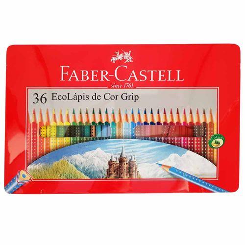 Lápis de Cor 36 Cores Grip Faber Castell 1012559