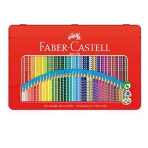 Lapis de Cor 36 Cores Lata Ecolapis Grip Faber Castell