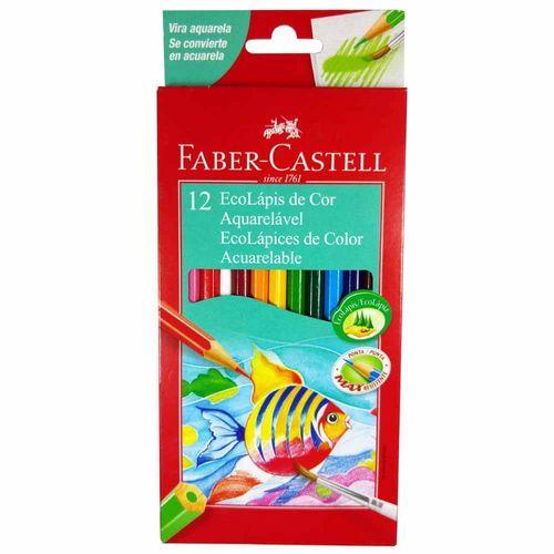 Lápis de Cor Aquarela 12 Cores Faber Castell 132312