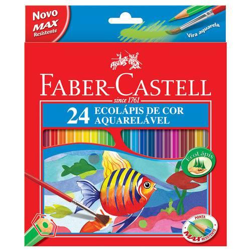 Lápis de Cor Aquarelável 24 Cores - Faber Castell