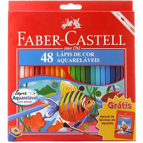 Lápis de Cor Aquarelável - 48 Cores - Faber-Castell