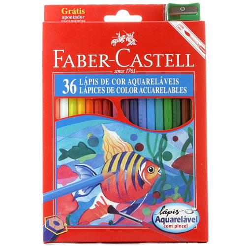 Lápis de Cor Aquarelável - 36 Cores - Faber-Castell