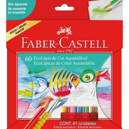 Lápis de Cor Aquarelável 60 Cores Faber Castell