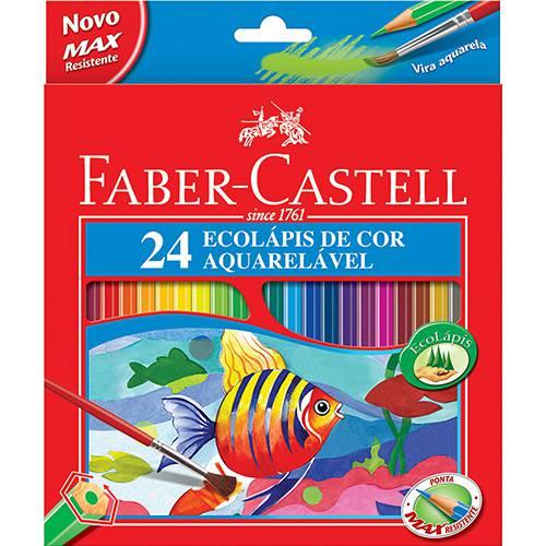 Lápis de Cor Aquarelável C/ 24 Cores - Faber-Castell