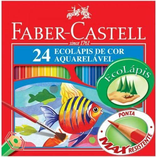 Lápis de Cor Aquarelável Ecolapis 24 Cores Faber Castell