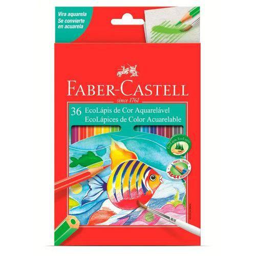Lápis de Cor Aquarelável Ecolápis 36 Cores Faber Castell