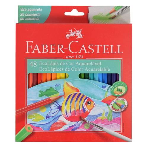 Lápis de Cor Aquarelável Faber Castell 048 Cores 120248G
