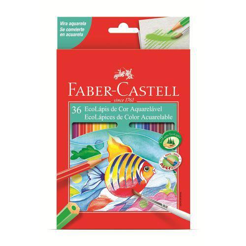 Lápis de Cor Aquarelável Faber Castell 036 Cores 120236g