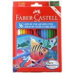 Lápis de Cor Aquarelável Faber-Castell - 36 Cores