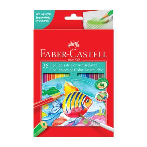 Lápis de Cor Aquarelavel Faber Castell com 36 Cores