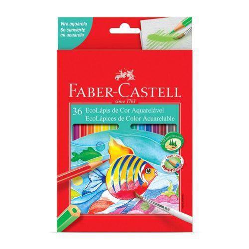 Lápis de Cor Aquarelável Faber-Castell EcoLápis 36 Cores