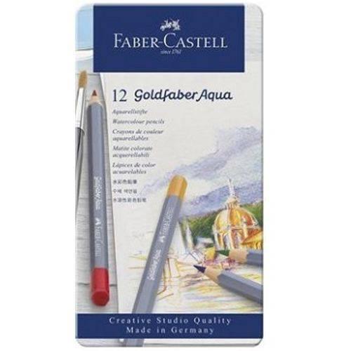 Lápis de Cor Aquarelável Faber Castell Goldfaber Estojo Metal 012 Cores 114612