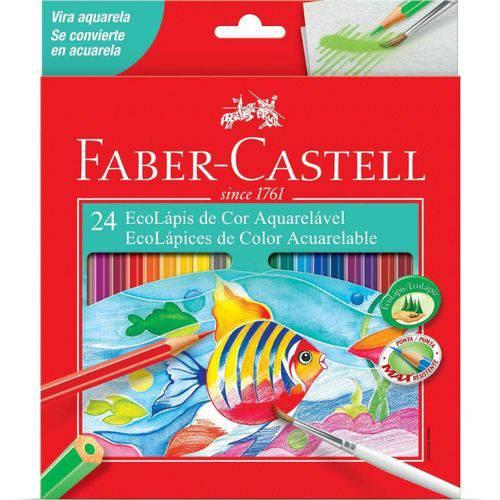 Lápis de Cor com 24 Aquarela 120224g-faber Castell