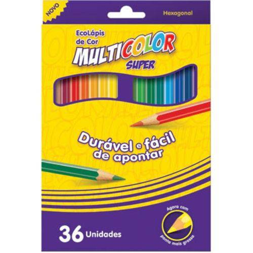 Lapis de Cor Cx C/36 Multicolor Super 113600N