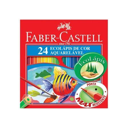 Lápis de Cor Ecolápis 24 Cores Aquarelável - Faber Castell